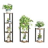 FANGQIAO Shop-Blumenständer Home Eisenständer Bodenständer Blumenständer Pflanzenständer Bonsai Display Regal Winkelrahmen Blumenständer-10.6 (Size : Four Floors)