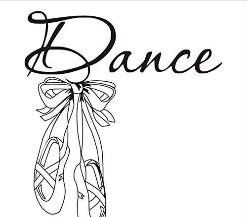 Wandtattoo Schöne Ballettschuhe Vinyl Wandtattoo Zitat Tanz Mädchen Zimmer Aufkleber Kunst Wandbild Wandtattoos Für Tänzerin Zimmer 42X48 Cm