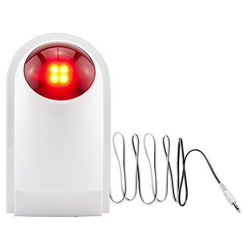 sgerste kerui) J007Wasserdicht Outdoor Kabelgebundene Mini Strobe Flash Sirene Alarm Rot Lichter für Home Alarm System (Licht-flash-system)