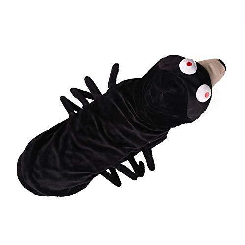 Ehdching Hundekostüm Spinnen-Motiv für Halloween, Tarantel, Hundekostüm, Outfit, Fell-Spinnenbeine, L