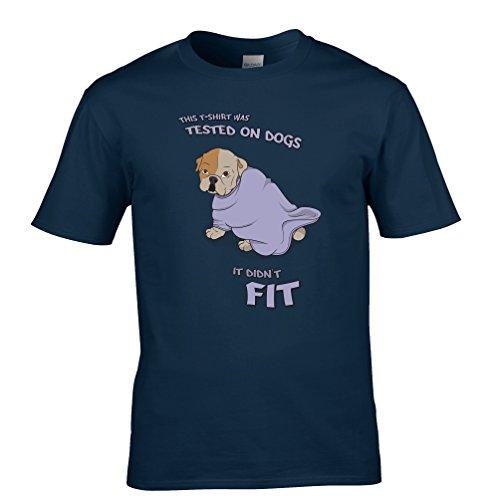 Tim And Ted Dieses T-Shirt Wurde An Hunden Cute Animal Gedruckt Slogan Zitat Getestet Herren T-Shirt (Hund T-shirt Zitat)