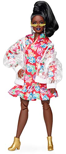Barbie bmr1959 bambola afroamericana snodata con vestito floreale, ght94