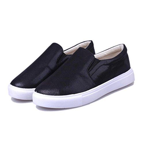 Webla Frühling Frauen Loafers Mode Casual Flats Schuhe Slipony Lazy Sportschuhe Schwarz