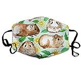 Nicegift Meerschweinchen Gänseblümchen Gesichtsmasken Atmungsaktiv Staubfilter Masken Mundschutz Masken Elastische Ohrschlaufe