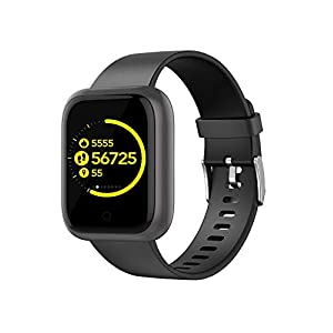 Smart Fitness Tracker Watch, Monitor de frecuencia cardíaca Reloj Presión arterial Sleep Monitor Multifuncional Bluetooth Smart Watch Impermeable Vidrio templado Podómetro Pantalla de color deportivo 1