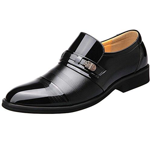 Speedeve mocassini uomo eleganti scarpe di pelle per tempo libero/affari commerciali nero/marrone