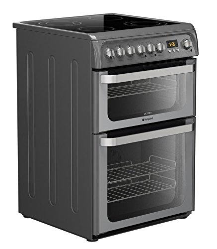 Hotpoint Ultima HUE61G S Freestanding Cooker – Graphite