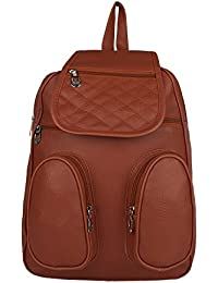 Tarshi Pu Brown Backpack For Women