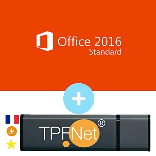 MS Office 2016 Standard 32/64 Bits - Clé de Licence Originale avec Clé USB de - TPFNet®