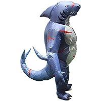 Baoblaze Gonflable Costume Combinaison Costume de Mascarade Forme Requin  avec Ventilateur Jeu de Rôle pour Enfant 8b8176208f4