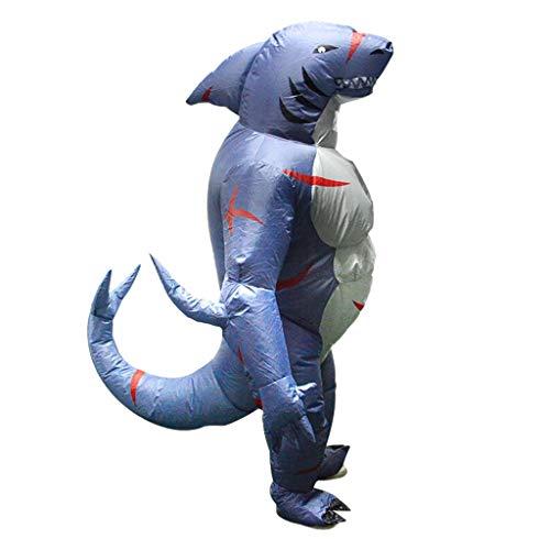 Fett Kostüm Anzug Luft - Baoblaze Lustige Haifisch Kostüm Aufblasbares Kostüm Luft Jumpsuit Fett Anzug Cosplay Zubehör