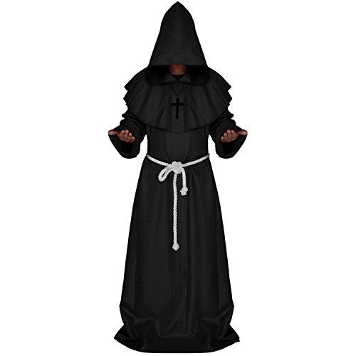 eidung Damen Herren Priester Kirchenvater costumes / cosplay Blau Schwarz XL (Halloween Priester Kostüm)