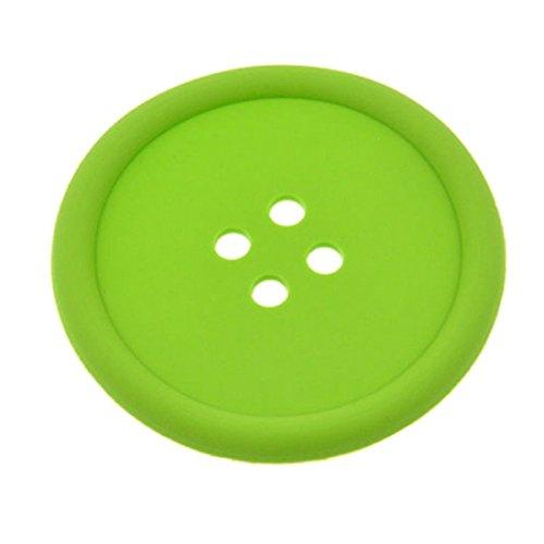 joyliveCY Silikon Kaffee Platzdeckchen Knopf Coaster Cup Becher Glas Getränkehalter Matte Pads Kaffeepad umweltfreundlich