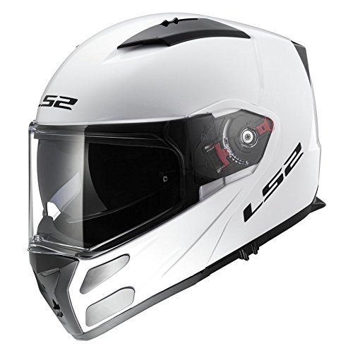 LS2 503241002M FF324 Casco Metro Solid, Color Blanco, Tamaño M