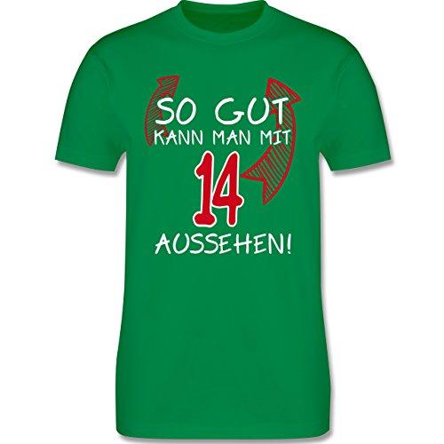 Geburtstag - So gut kann man mit 14 aussehen - Herren Premium T-Shirt Grün