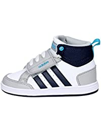 adidas HOOPS CMF MID INF - Zapatillas deportivaspara niños, Blanco - (FTWBLA/MARUNI/ONICLA), 20