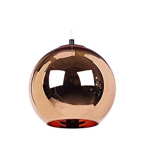 Chrom Wand Globus (Moderne Kreative Chrom Rot Kupfer Spiegel Ball Pendelleuchte E27 Einstellbare Globus Hängeleuchte Kronleuchter Scheune Lagerhaus Metall Runde Lampenschirm Suspension Deckenleuchte)