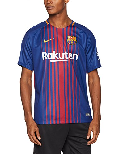 Nike Herren Breathe FC Barcelona Stadium SS Home Trikot, Deep Royal Blue/University Gold, S (Ss Rugby Shirt)
