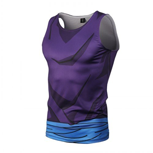 Men's The Dragon Ball Z Printed Sleeveless Casual Vest picture color
