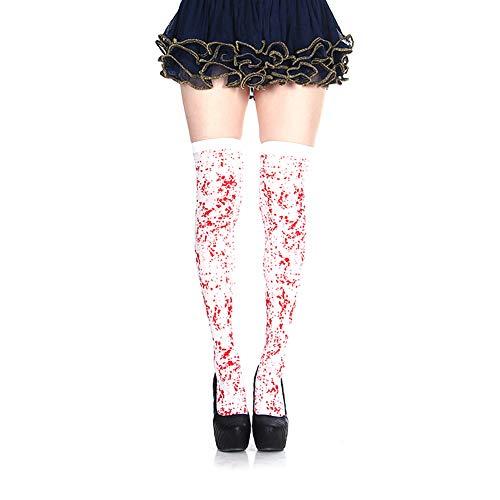 Knochen Lustig Kostüm Kleinkind - Romote Gothic Skeleton Lange Handgelenk Knochen Blooded Socken für Halloween Cosplay Kostüme 1Pair (Blut Skeleton)