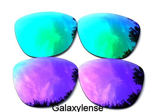 Galaxylense Ersatzgläser für Oakley Frogskins lila & grün Farbe Polarisierend 2 Paar - lila & grün, Reguläre