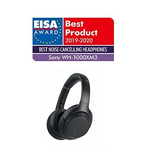 Sony WH-1000XM3 Bluetooth Noise Cancelling Kopfhörer (30h Akkulaufzeit, Touch Sensor, Headphones Connect App, Schnellladefunktion) schwarz - 4