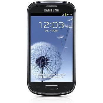 Samsung Galaxy S3 mini I8190 Smartphone (10,2 cm (4 Zoll) AMOLED Display, Dual-Core, 1GHz, 1GB RAM, 5 Megapixel Kamera, Android 4.1) sapphire-black