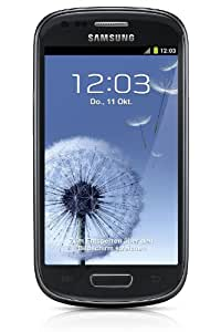 Samsung Galaxy S3 mini I8190 Smartphone (10,2 cm (4 Zoll) AMOLED Display, Dual-Core, 1GHz, 1GB RAM, 5 Megapixel Kamera, Android 4.1) sapphire-black