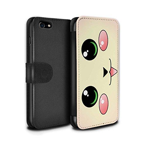 Stuff4 Coque/Etui/Housse Cuir PU Case/Cover pour Apple iPhone 4/4S / Panda Design / Kawaii Mignon Collection Chat/Chaton