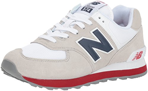 New Balance 574 Core Plus, Zapatillas para Hombre, Blanco (Nimbus Cloud/Navy), 42.5 EU (Talla Fabricante: 8.5 UK)
