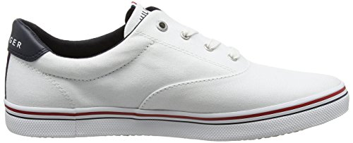 Tommy Hilfiger E1285liza 3d3, Sneaker Basses Femme Blanc (White 100)