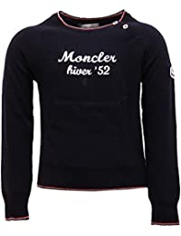 MONCLER 6754T Maglione Bimbo Lana blu Sweater Wool Kid