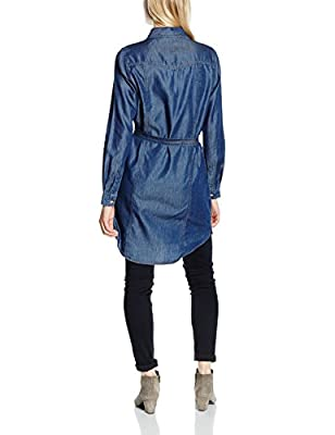 French Connection Women's Denim Tencel Ls Westrn Shrtdrs Shirt