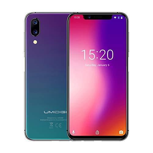 UMIDIGI One Pro Smartphone, 5.9' Doble 4G LTE Teléfono Móvil, Android 8.1 Octa Core 4GB+64GB, 3 Cámaras,...
