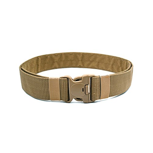 bestomz tactical belt - Adjustable exterior military belt with quick release buckle 120 x 5.5 x 0.3 cm (Khaki)