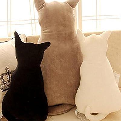 KaariFirefly Cute Cat Zurück in die mit Soft-Plüsch Spielzeug, Sofa Kissen Sitzkissen Geschenk von KaariFirefly bei Gartenmöbel von Du und Dein Garten