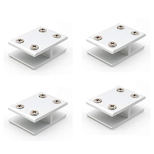 NUZAMAS - Juego de 4 abrazaderas de cristal de 180°, soporte de...
