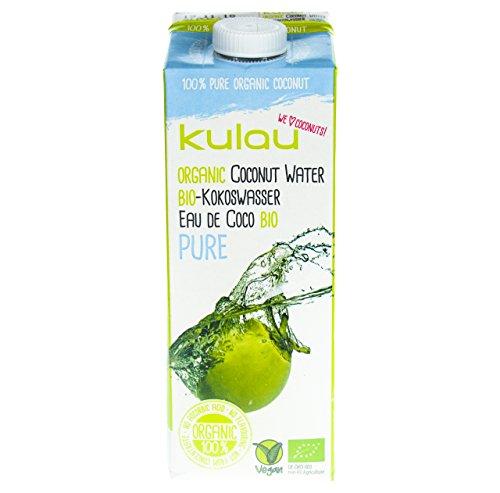 KULAU Bio-Kokoswasser PURE 1 Liter - 100 % pures Kokosnusswasser aus der Kokosnuss, 12er Pack (12 x 1 L)
