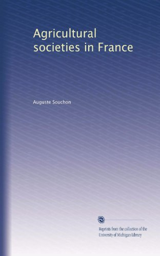 Agricultural societies in France