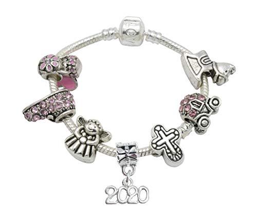 Jewellery Hut Armband, Enkelin, Taufe, Andenken, versilbert, mit Gedicht, Geschenkkarte und Geschenkbox