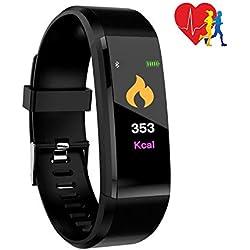 Eipotech Fitness Tracker, Smartwatch Wasserdicht IP67 Fitness Armband, Pulsuhren Schrittzähler Uhr Smart Watch Fitness Uhr für Damen Herren