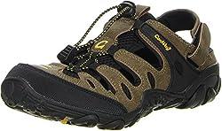 ConWay Damen Herren Trekkingsandalen Outdoorschuhe braun, Größe:43, Farbe:Braun