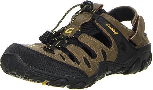 ConWay Damen Herren Trekkingsandalen Outdoorschuhe braun, Größe:43, Farbe:Braun (Größe 15 Männer Aus Sandalen Leder Für)