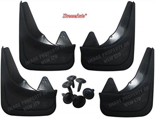 XtremeAuto® Universal-Schmutzfänger für vorne und hinten, mit Laptopaufkleber, schwarz - XAMudflaps1 (Modell Civic Auto Coupe)
