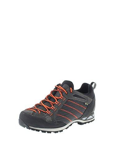 Hanwag Makra GTX Low-Cut Schuhe Herren Asphalt/orange Schuhgröße UK 10,5 | EU 45 2019