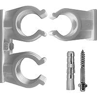 Rohrclips Clips Doppel in Verschiedenen Größen für Kupferrohr Kunststoffrohr