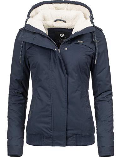 Ragwear Damen Winterjacke Outdoorjacke Ewok Blau018 Gr. L