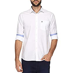 Allen Solly Mens Casual Shirt (8907587689074_AMSF1G01983_42_Blue With White)