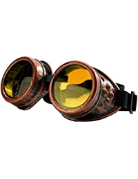 4sold TM Steampunk Antique Copper Cyber Goggles Rave Goth Vintage Victorian like Sunglasses all pictures