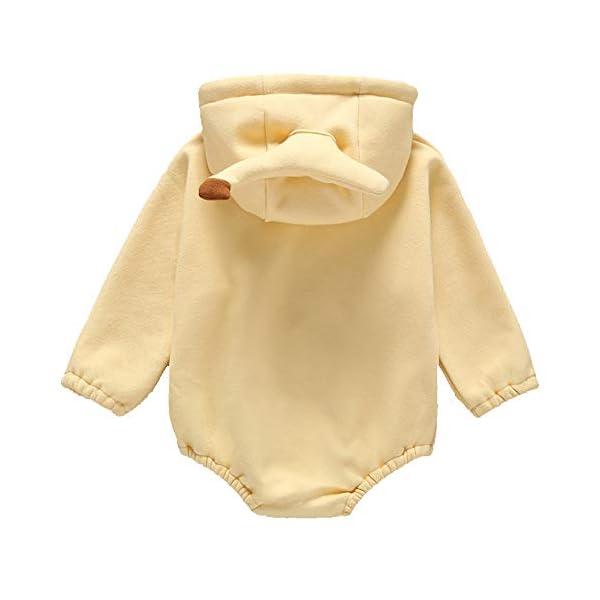 ZHANGXX Bebé Mameluco Unisex Invierno Cálido Monos para Patrón De Invierno Abotonado, 100% Algodón,Yellow-73cm 2